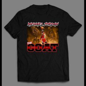 MJ THE GOAT VERY RARE BOOTLEG STYLE BASKETBALL SHIRT