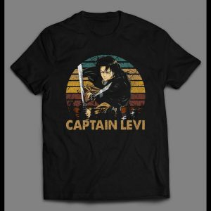ATTACK ON TITAN CAPTAIN LEVI HIGH QUALITY DISTRESSED ANIME SHIRT