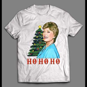 GOLDEN GIRLS BLANCHE HO HO HO HIGH QUALITY CHRISTMAS SHIRT