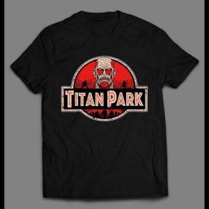 "ATTACK ON TITAN ""TITAN PARK"" HIGH QUALITY ANIME SHIRT"