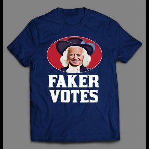 SLEEPY JOE FAKER VOTES OATMEAL PARODY POLITICAL SHIRT
