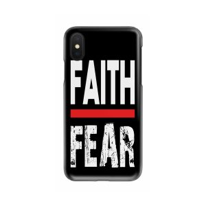 FAITH OVER FEAR CHRISTIAN DESIGN PRINTED CELL PHONE CASE FOR IPHONES AND SAMSUNG GALAXY